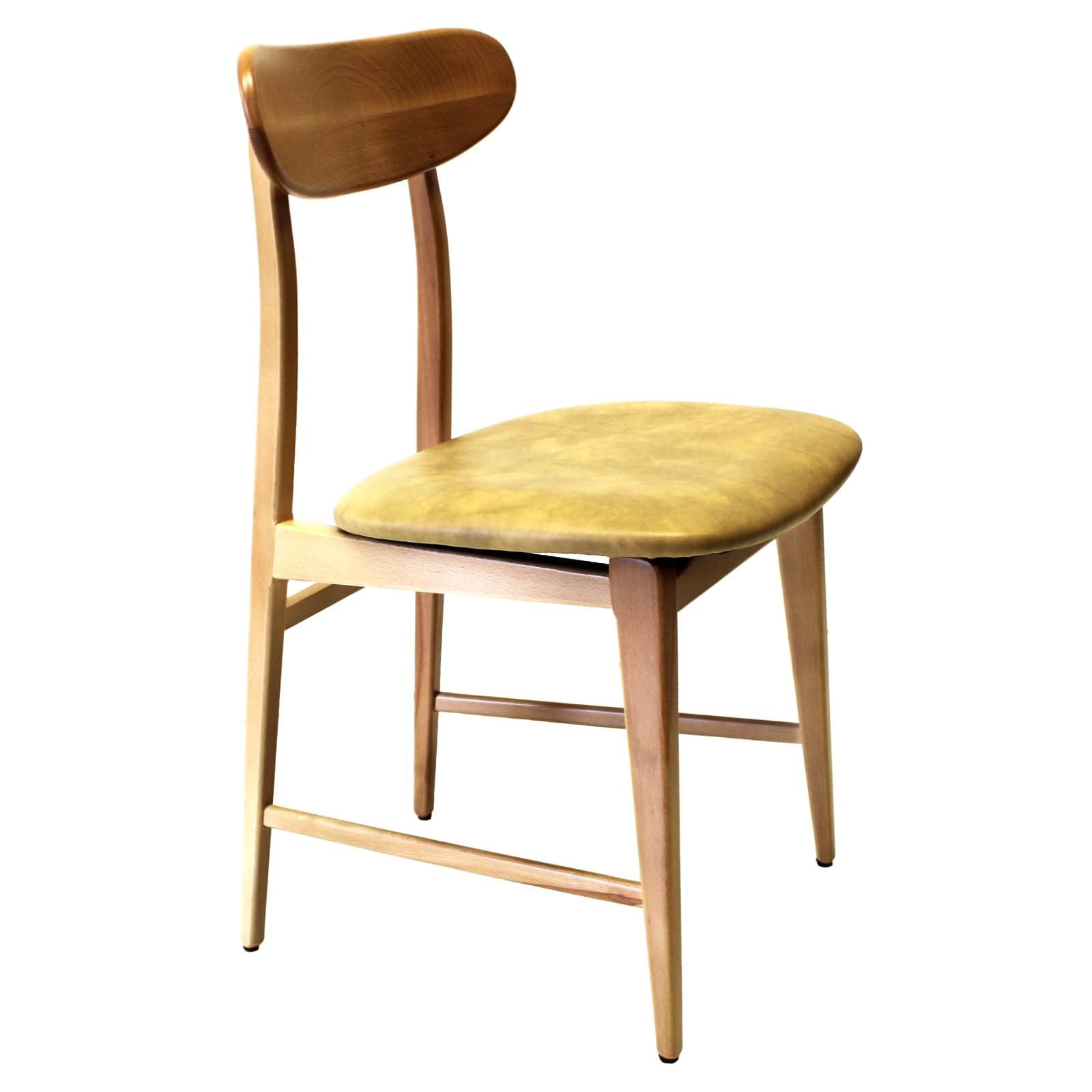Sedie In Legno Per Alberghi.Sedia Ottavia In Ecopelle E Legno