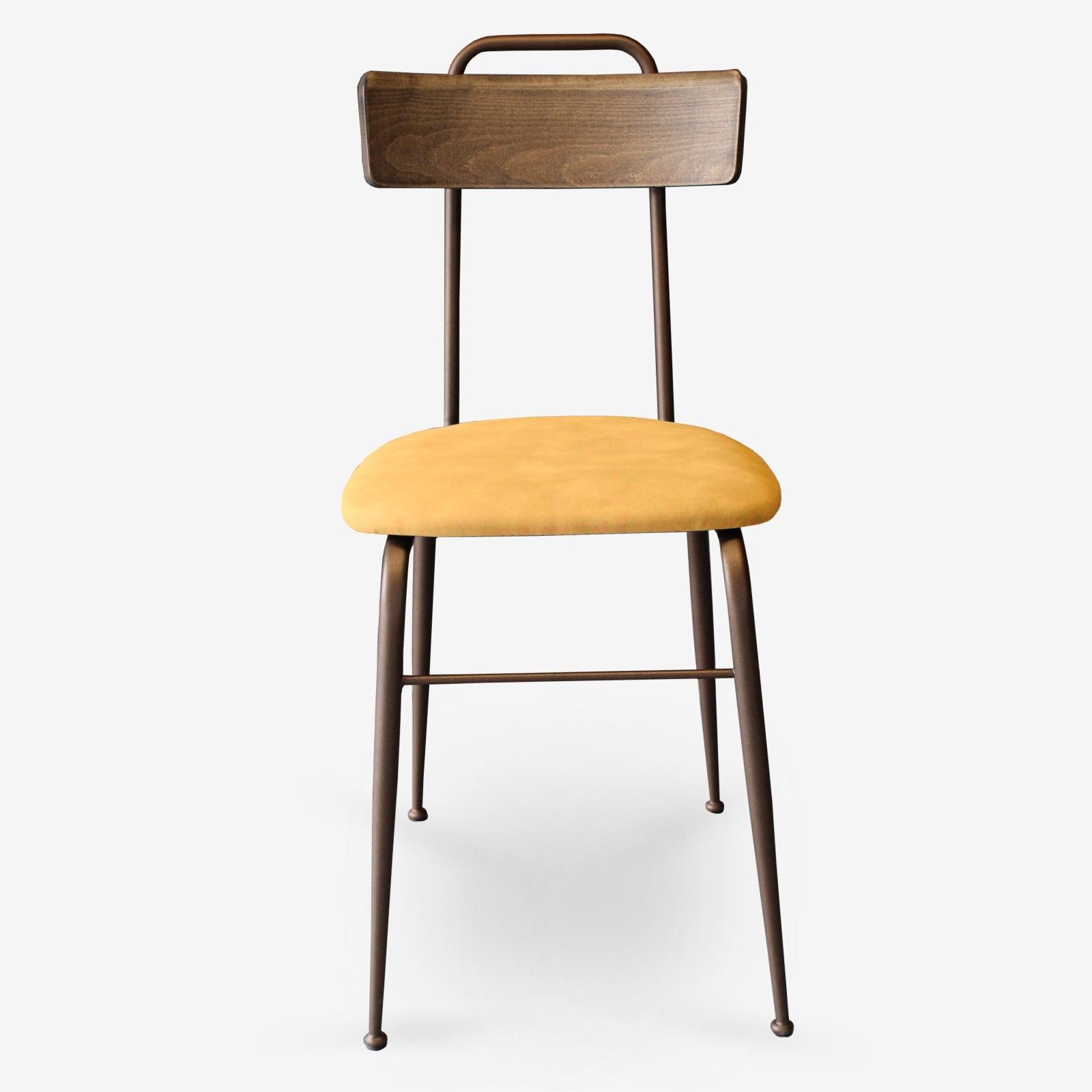 Sedie-in-ecopelle-e-metallo-bronzo-sedie-per-ristoranti-alberghi-bar-sedie-vintage-sedie-di-design-sedie-moderne-Clo- fg