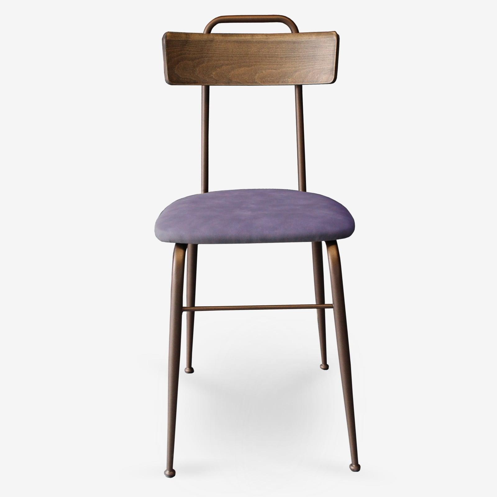 Sedie-in-ecopelle-e-metallo-bronzo-sedie-per-ristoranti-alberghi-bar-sedie-vintage-sedie-di-design-sedie-moderne-Clo- fv