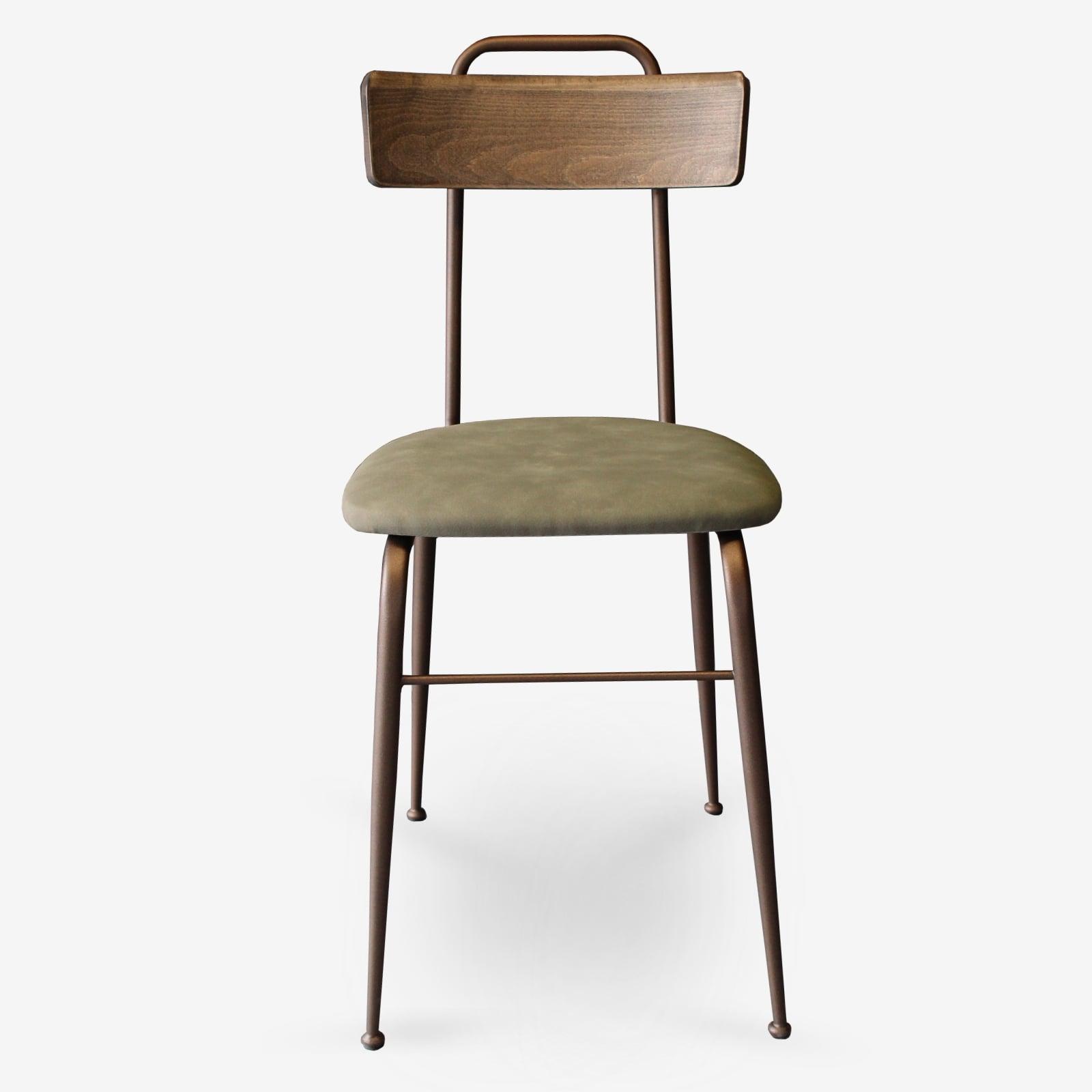 Sedie-in-ecopelle-e-metallo-bronzo-sedie-per-ristoranti-alberghi-bar-sedie-vintage-sedie-di-design-sedie-moderne-Clo- fvo