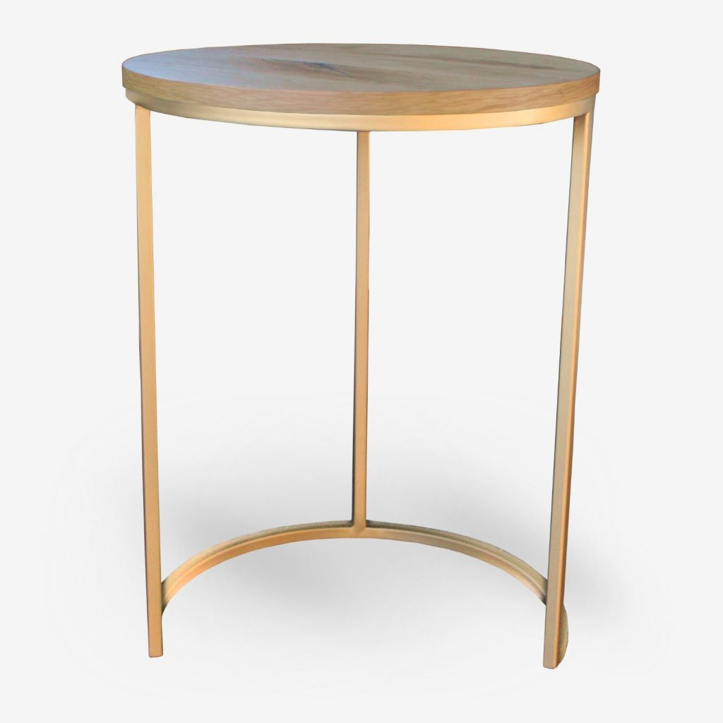 tavolino per ristoranti e alberghi in metallo oro