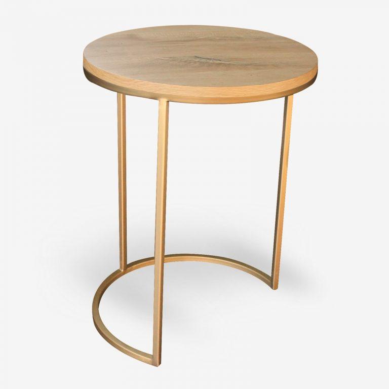 tavolino da fumo per ristoranti bar a lberghi in metallo oro